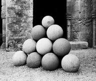 Pilha dos mísseis de pedra Foto de Stock
