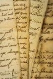 Pilha dos manuscritos imagem de stock royalty free