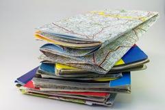 Pilha dos mapas Imagens de Stock Royalty Free