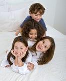 Pilha dos miúdos Fotografia de Stock Royalty Free