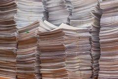 Pilha dos originais de papel no escritório Imagem de Stock Royalty Free