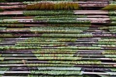 Pilha dos painéis em folha de palmeira Fotografia de Stock