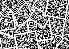 Pilha dos qrcodes Fotos de Stock Royalty Free