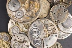 Pilha dos relógios Fotografia de Stock