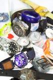 Pilha dos relógios de pulso Fotografia de Stock