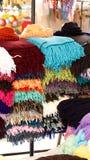 Pilha dos scarves imagem de stock