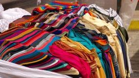 Pilha dos scarves imagens de stock