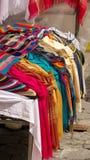 Pilha dos scarves foto de stock