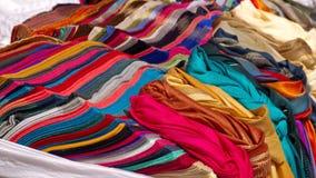 Pilha dos scarves fotografia de stock