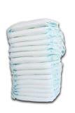 Pilha dos tecidos do bebê isolados no fundo branco Fotos de Stock Royalty Free