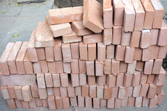 Pilha dos tijolos Fotografia de Stock