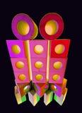 Pilha dos tijolos na luz colorida Imagens de Stock Royalty Free