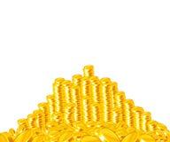 Pilha dourada das moedas Fotografia de Stock