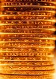 Pilha dourada das moedas do dólar Imagem de Stock Royalty Free