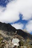 Pilha e nuvens de pedra Foto de Stock Royalty Free