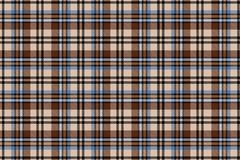 Pilha escocesa Teste padrão sem emenda da gaiola do vetor repetir Azul com fundo marrom ilustração do vetor