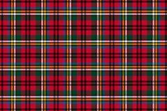 Pilha escocesa Teste padrão sem emenda da gaiola do vetor repetir Vermelho e verde ilustração royalty free