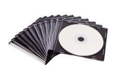 Pilha espiral de compacts-disc Fotografia de Stock Royalty Free