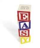 Pilha fácil do bloco do alfabeto Imagem de Stock Royalty Free
