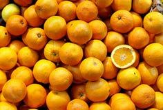 Pilha das laranjas Foto de Stock