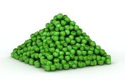 Pilha grande de maçãs verdes Imagens de Stock