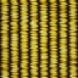 Pilha grande de moedas de ouro brilhantes Ilustração Stock