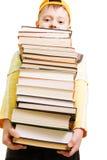 Pilha grande dos livros Fotografia de Stock