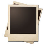 Pilha imediata dos quadros da foto do vintage isolada com trajeto de grampeamento Imagem de Stock