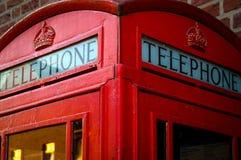 Pilha inglesa velha do telefone Foto de Stock Royalty Free