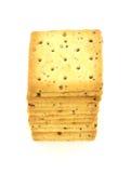 Pilha inteira quadrada do biscoito da grão fotografia de stock royalty free