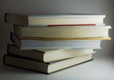 Pilha isolada de livros Fotografia de Stock Royalty Free