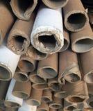 Pilha junto de núcleo de papel velho foto de stock