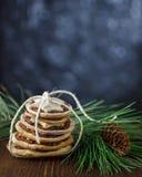 Pilha mágica das cookies do Natal Foto de Stock Royalty Free