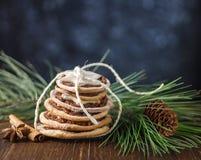 Pilha mágica das cookies do Natal Imagem de Stock Royalty Free