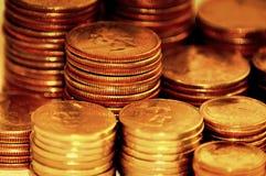 Pilha pequena de moedas foto de stock royalty free