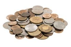Pilha pequena de moedas taiwanesas Fotografia de Stock