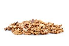 Pilha pequena de sementes das nozes Fotografia de Stock