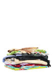 Pilha pequena dos bed-clothes | Isolado Fotografia de Stock Royalty Free