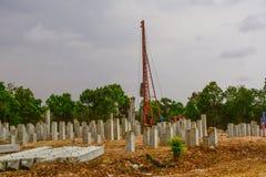 Pilha que conduz para a construção civil foto de stock royalty free