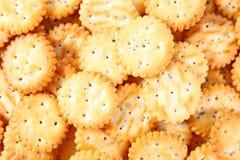 Pilha salgada dos biscoitos Foto de Stock