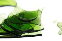 Pilha verde do vidro Imagem de Stock Royalty Free
