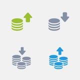 Pilhas da moeda - ícones do granito ilustração stock