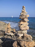 Pilhas da pedra Fotografia de Stock Royalty Free