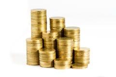 Pilhas das moedas Imagens de Stock