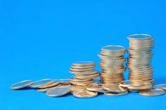 Pilhas das moedas Fotografia de Stock