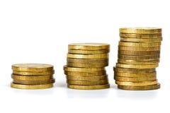 Pilhas das moedas Imagem de Stock Royalty Free