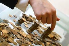 Pilhas das moedas Fotografia de Stock Royalty Free