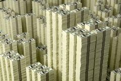 Pilhas das notas de dólar Foto de Stock Royalty Free