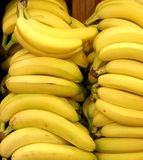 Pilhas de bananas fotografia de stock royalty free