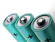 Pilhas de baterias Fotografia de Stock Royalty Free